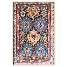 "Antique Seychour/Kazak/shirvan Caucasian Rug, 3'8"" x 5'7"" C-1880 #11906"