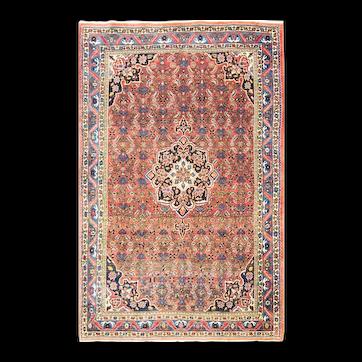 "Antique Persian Bijar Rug, 4'4"" x 6'11"" c-1920's #12169"