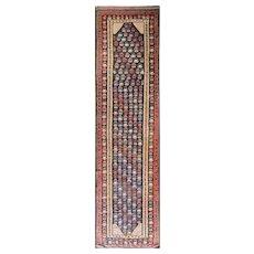 """4'2"""" x 15'8"""" Antique persian Soumak Runner, c-1915"""