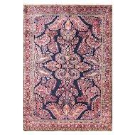 """3'5"""" x 4'11"""" Elegant Persian Mohajeran Sarouk Rug, c-1920's"""