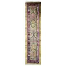 "3'4"" x 14'3"" Incredible Antique Persian Bakshaish Runner, C-1880"