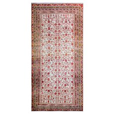 "6'4"" x 13'3"" Incredible Antique Khotan Carpet, c-1900"