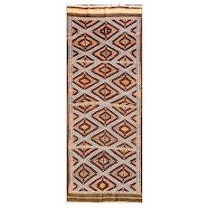 """3'5"""" x 10' Persian Soumak Kilim Runner, c-1940"""