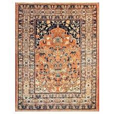 """4'6"""" x 5'9"""" Antique Classic Persian Tabriz, c-1910"""