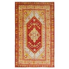 """4'3"""" x 7'2"""" Turkish Oushak Anatolian Rug, #15622"""