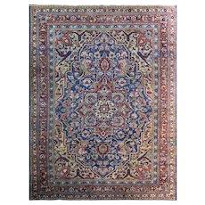 "8'5"" x 11' Persian Heriz Carpet, Unusual Colors, c-1920"