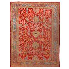 Antique  Oushak Anatolian Turkish Oriental Rug, 10' x 14'   #15703, c-1900