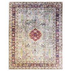 "Antique Amritsar/ Agra Carpet, 9'1"" x 11'7"" c-1900"