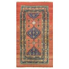 "Antique Persian Afshar Rug, 4'1"" x 7'9"" Rare, c-1880's"