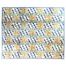 "Antique Scandinavian Carpet, 9'4"" x 13', c-1920"