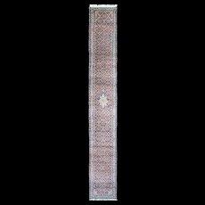 """2'5"""" x 19' Long Persian Tabriz Runner, c-1950's"""