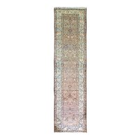 """3'7"""" x 13'3"""" Great Antique Persian Malayer Runner, c-1910"""