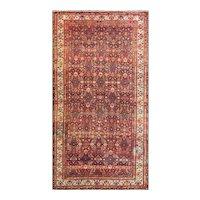 "5'9"" x 11'5"" Antique Persian Malayer Gallery Carpet, c-1910's"