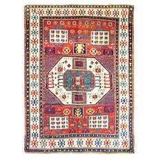 """Antique Karachop Kazak Rug, 5'6"""" x 7'5"""" c-1880, #16416"""