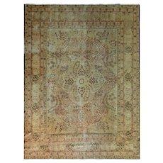 """9' x 12'2"""" Antique Persian Tabriz Carpet, c-1900"""