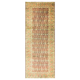 "4'6"" x 12' Antique Indo Agra Gallery Rug, c-1900"