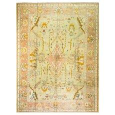 """Antique Oushak Carpet , 10'9"""" x 14', c-1890"""