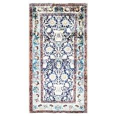 """3'3"""" x 6'3"""" Persian Lilihan Rug, c-1920's"""
