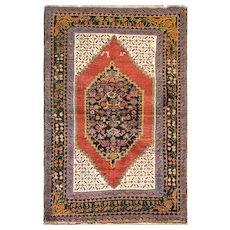 ",4'8"" x 7' Attractive Antique Karabagh Rug, c-1880"