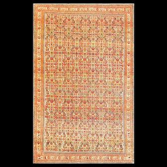 "3'11"" x  6'5"" Fine Antique Sarouk Feraghan Rug, c-1880"