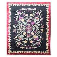 """Antique Art Deco Chinese Carpet, 7'10"""" x 9'8"""", #16580,c-1920's"""