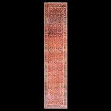 "3'8"" x 17'8"" Spectacular Antique Kurdish Bidjar Runner, c-1900"