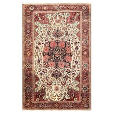 "Antique Feraghan Sarouk Rug, 3'4"" x 5'2"" #16617 c-1880"