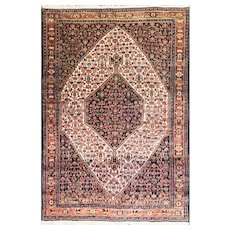 """Antique Persian Senneh Rug, 4'6"""" x 5'10"""".  c-1900 #16619"""