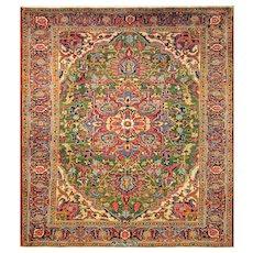 "6'5"" x 9'4"" Stunning Persian Heriz Carpet, c-1920's"