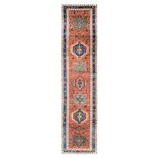 Antique Persian  Karaja/ Heriz Karadagh Oriental Runner, c-1920's #16642