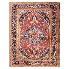 "Antique Persian  Heriz/serapi Oriental Rug, 4'10"" x 6'3"", c-1920 #16658"
