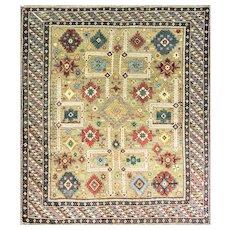 """Antique Shirvan,Caucasian Rug, 4'1"""" x 4'10"""" #16659 c-1880's"""
