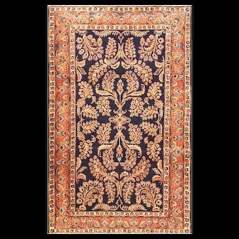 "4'2"" x 6'7"" Antique Persian Mohajeran Sarouk Rug, c-1915"