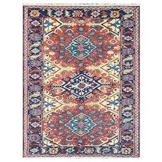"""Antique Soumak Kilim Caucasian Rug, 4'10"""" x 6'4"""", c-1900"""