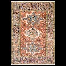 "4' x 5'10"" Persian Karajah Rug, c-1920's"
