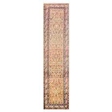 """3'4"""" x 14'11"""" Persian Malayer Camel Color, c-1920's"""