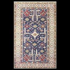 """3'10"""" x 6' Antique Caucasian Kuba Rug, c-1880's"""