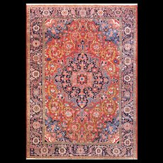 """7'5"""" x 10'7"""" Incredible Persian Heriz Carpet, c-1920's"""