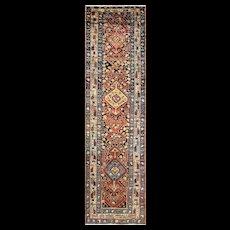 "3'6"" x 13'8"" Astonishing Antique Northwest Persian Runner, c-1990"