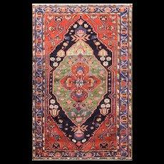 "4'2"" x 6'7"" Unusual Persian Bakhtiari Rug. c-1920's"