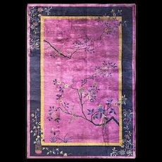 "5'10"" x 8'8"" Manchester Wool Art Deco Carpet, c-1920's"