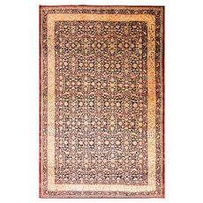 "Outstandind 6'7"" x 10'4"" Antique Tehran Carpet, c-1900"