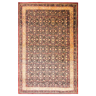 "Outstandind 6'7"" x 10'4"" Antique Tehran Carpet, c-1900"