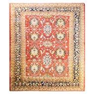 "Stunning 10'7"" x 13' Antique Persian Sultanabad Carpet, c-1880"