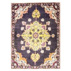 "1'10"" x 2'9"" Magnificent Persian Tabriz Rug, c-1960"