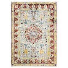 """Antique Turkish Hereke Carpet  6'6"""" x 9'5"""". c-1880's"""