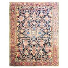"""Spectacular 9'4"""" x 12'5"""" Antique Persian Heriz Carpet, c-1910"""