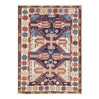 """3'9"""" x 5'3"""" Unusual Antique Shirvan Caucasian Oriental Rug, C-1880"""