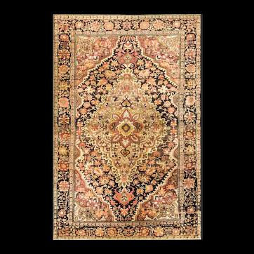 "Antique Persian Feraghan Sarouk, 4'1"" x 6'6"" c-1880's #16863"