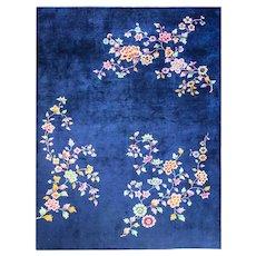 """8'8"""" x 11'7"""" Classic Art Deco Carpet, c-1930"""